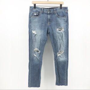 Rag & Bone Distressed Capri Jeans Size 30